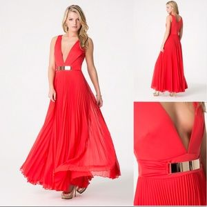 Bebe Red Gown- NWT